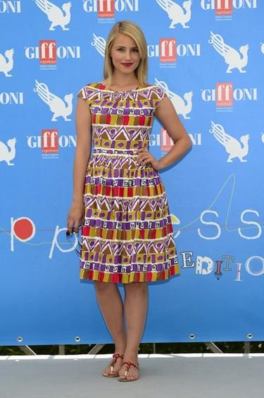 Las hay guapas, las hay <em>glitter</em> y luego esta Dianna Agron vestida de Prada
