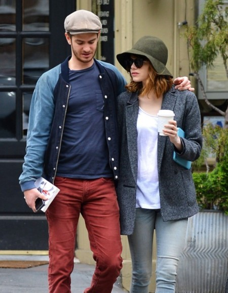 ¡Qué monos (y hipster) sois Andrew Garfield y Emma Stone!