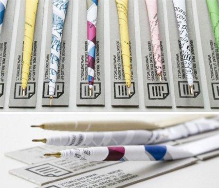 Escribe con un bolígrafo de papel