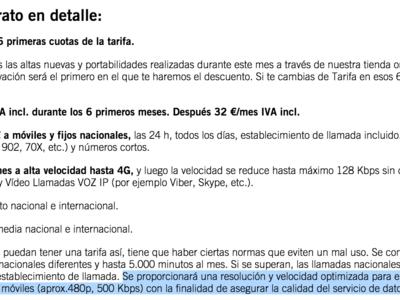 La peligrosa letra pequeña de la nueva SinFin: Yoigo podría limitar la calidad del vídeo a 480p