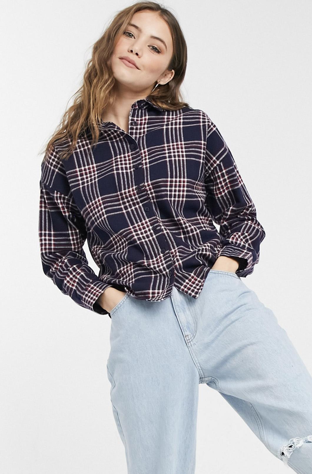 Camisa a cuadros vintage de Wednesday's Girl