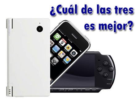 Nintendo DSi vs Sony PSP-3000 vs Apple iPhone 3G, ¿Cuál es mejor?