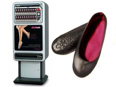 Afterheels, maquinas expendedoras de bailarinas para poder llegar a casa