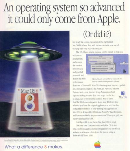 Colección de imágenes con la publicidad usada por Apple a lo largo de su historia