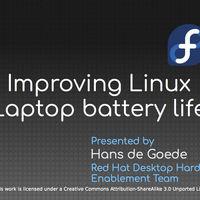 En Fedora han conseguido formas de aumentar el rendimiento de la batería en Linux hasta un 30%