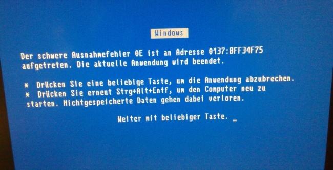 BSOD en Windows 95