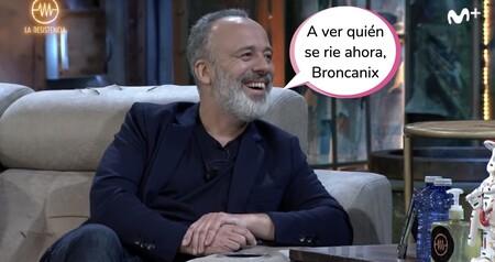 """Javier Gutiérrez desvela cómo es David Broncano detrás de cámaras: """"Eres un sieso"""""""