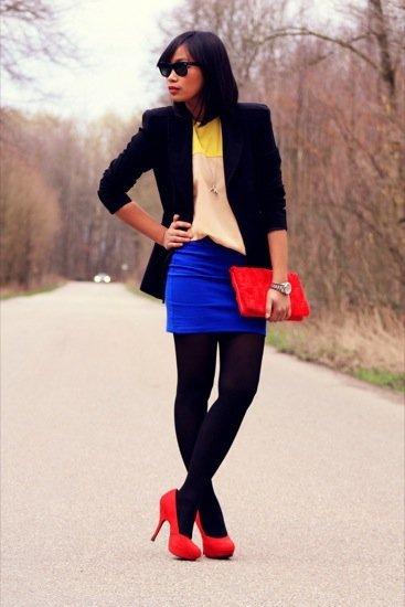 Anjelica Lorenz color block