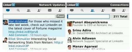 LinkedIn ahora accesible para BlackBerry desde su aplicación nativa
