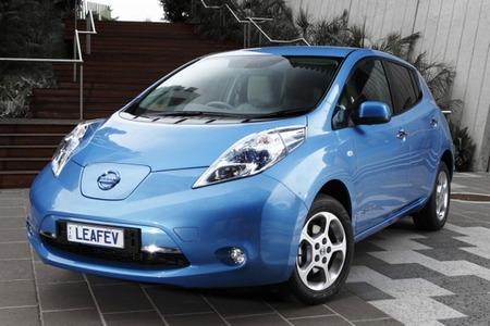Nissan LEAF azul EV