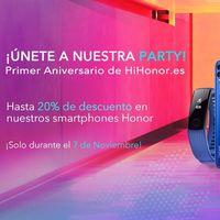 Aniversario Honor: 20% de descuento y móviles por 1 euro durante el día de hoy