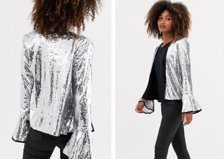 chaqueta navidad plata 2020