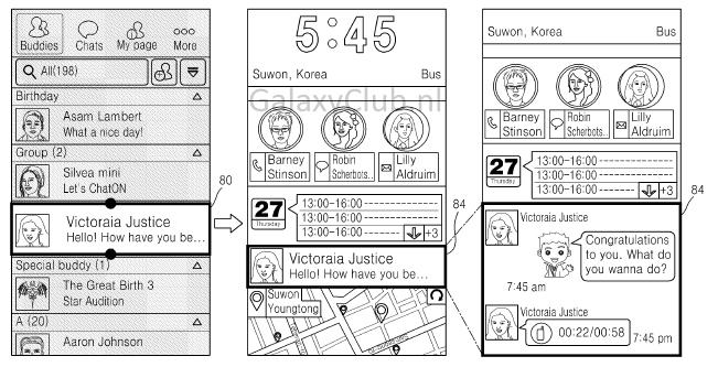 Samsung TouchWiz (nuevas patentes)