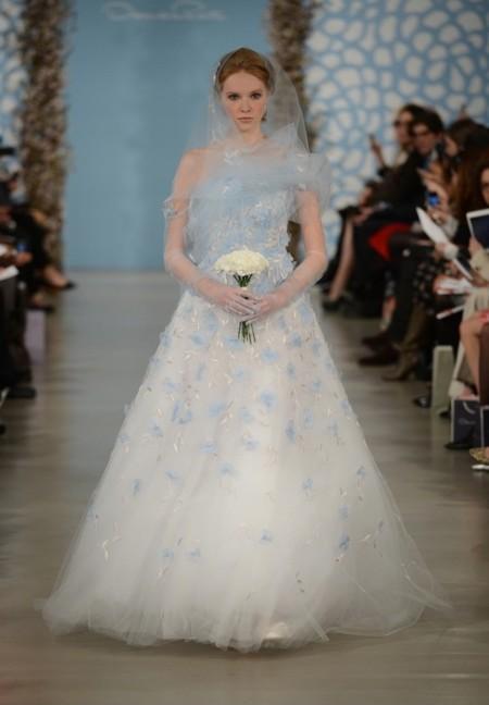 osacer de la renta vestidos novia
