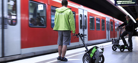 Scuddy: un triciclo eléctrico plegable para la gran ciudad