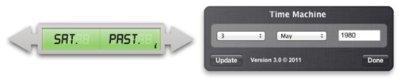 Time Machine es un widget para obtener el día de la semana a partir de una fecha