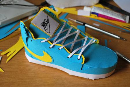 Las Nike de papel