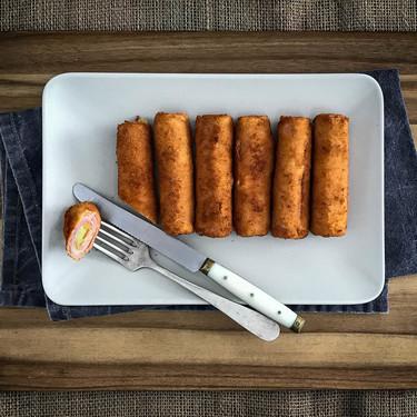 Flamenquines de jamón y queso, receta fácil y rápida para conquistar a pequeños y mayores (con vídeo incluido)