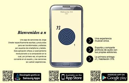 n es una aplicación (aplicanción) musical de Jorge Drexler para dispositivos móviles