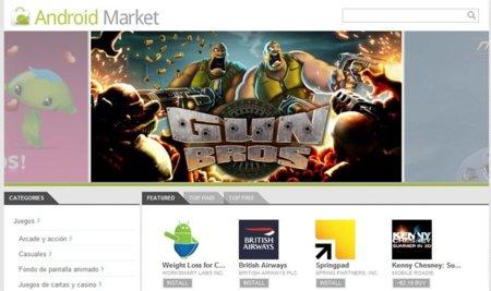 Android Market estrena su versión web