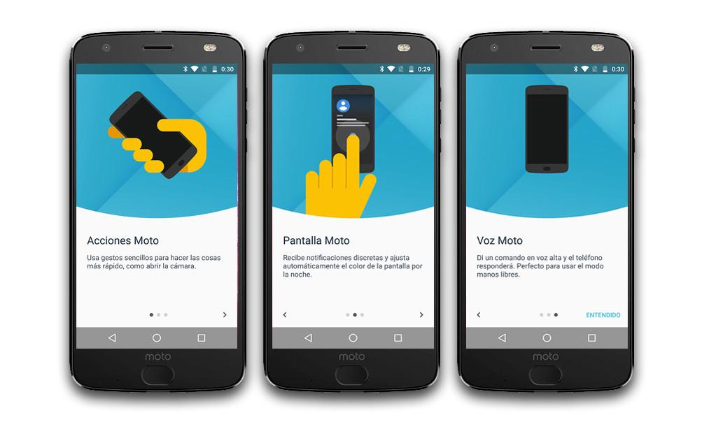Moto Z2 Force Moto Software App
