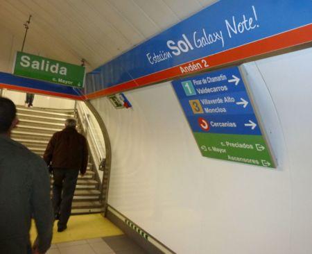 La nueva estación Sol Galaxy Note de Madrid, la imagen de la semana