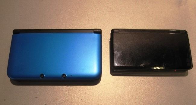 3DS XL y 3DS comparación cerradas