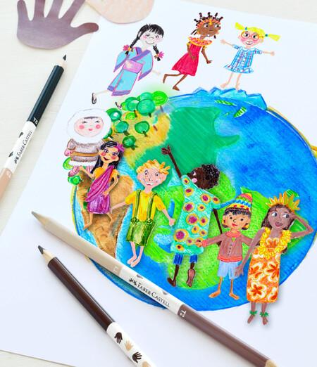 Faber-Castell lanza lápices en seis tonos de color piel para que los peques pinten la diversidad de los niños del mundo