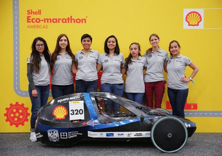 Equipo de ingenieras de la UNAM participan en Shell Eco-Marathon con un coche de baterías