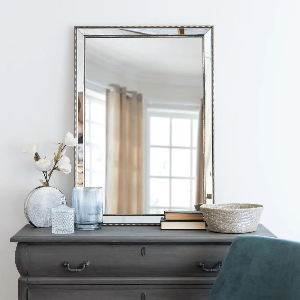 AUGUSTINE.- Espejo con marco de perlas 70x100