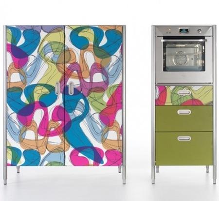 Muebles de cocina en colores alegres para la primavera