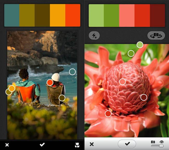pantallazos de aplicación