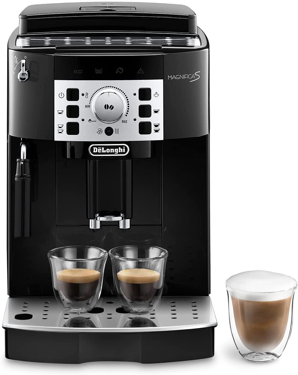 De'longhi Magnifica S - Cafetera Superautomática con 15 Bares de Presión, Cafetera para Espresso y Cappuccino, 13 Programas Ajustables,...