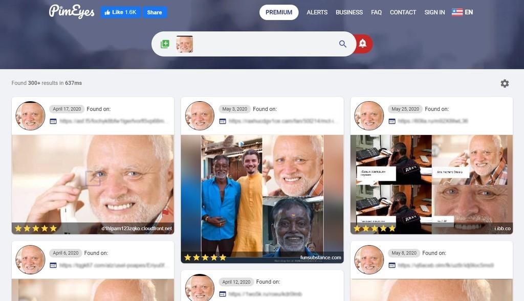 Esta web usa aprendizaje automático y reconocimiento facial para buscar tu cara y la de cualquiera en todo internet