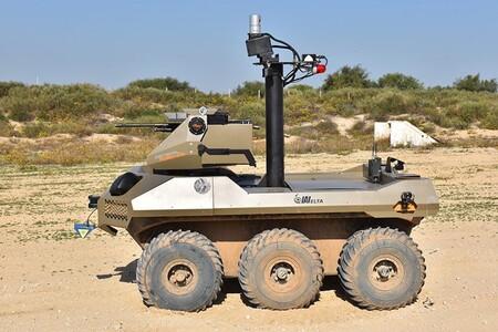"""Así es """"Jaguar"""", el robot semi-autónomo armado con una ametralladora que vigilará la Franja de Gaza"""