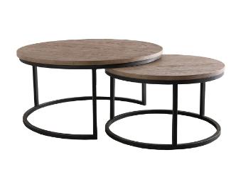 Set de 2 mesas de centro Coctel