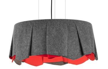 Lámpara tutú, inspirada en una falda de mujer