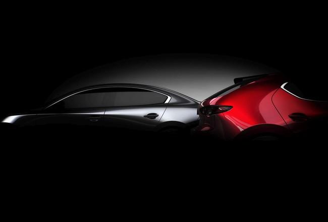 El Mazda 3 se insinúa con dos nuevos teasers y confirma su debut en Los Ángeles
