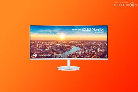 """Máxima productividad con el monitor ultrawide QHD de 34"""" Thunderbolt Samsung C34J791, con un descuento de casi 255 euros en Amazon"""