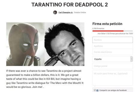 Tarantino para Deadpool 2