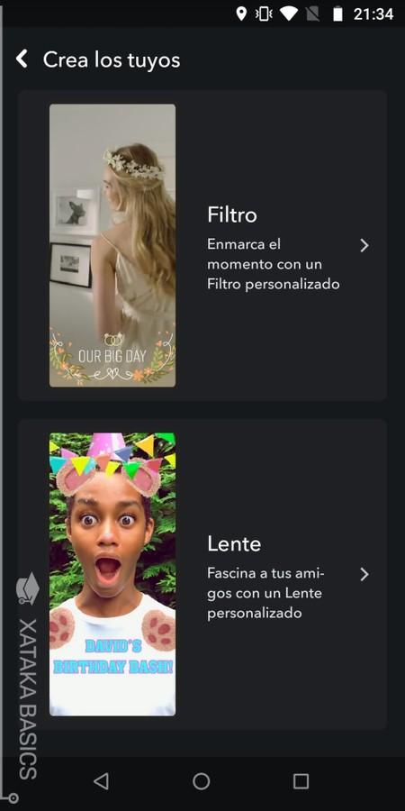 Crea Filtro