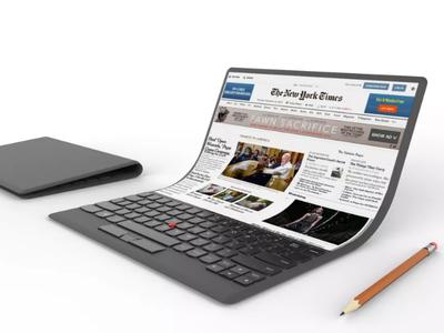 Lenovo quiere ir más allá de los móviles y tablets plegables, este es su concepto de portátil con pantalla flexible