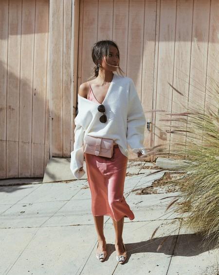Combinar Vestido Rosa Zapato Bolso 01