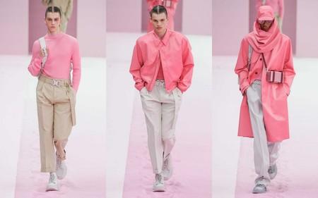 Hombre Rosa Pink Trendnecias Hombre Tendencia Paris Fashion Week Spring Summer 2020 03