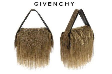 Bolso bordado en metal dorado de Givenchy