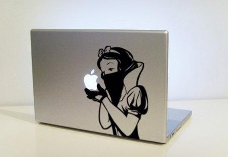 Vinilo adhesivo para MacBook, la venganza de Blancanieves