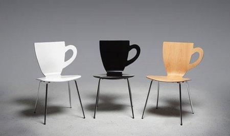 Una silla homenaje a la taza de café