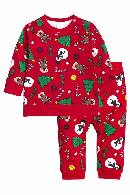 Sudadera Y Pantalon De Navidad Bebe