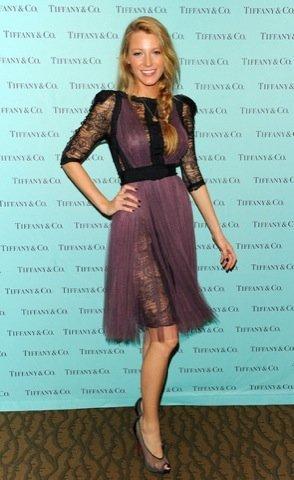 Blake Lively look Tiffany vestido