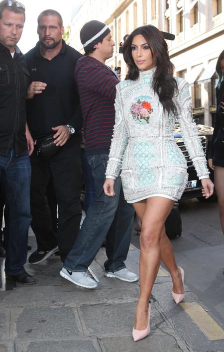 Kim Kardashian Balmain look